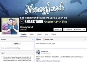 Honeyfund Facebook page