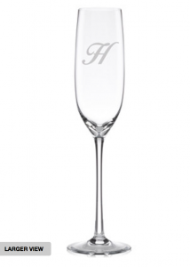 Check out these great monogrammed Lenox toasting glasses, perfect for your first toast. Get them on sale at Macy's, use links below for additional savings.