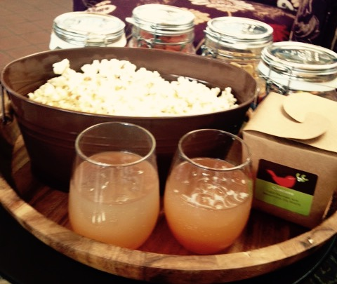 Apple Cider Moscow Mule and DIY Popcorn Bar