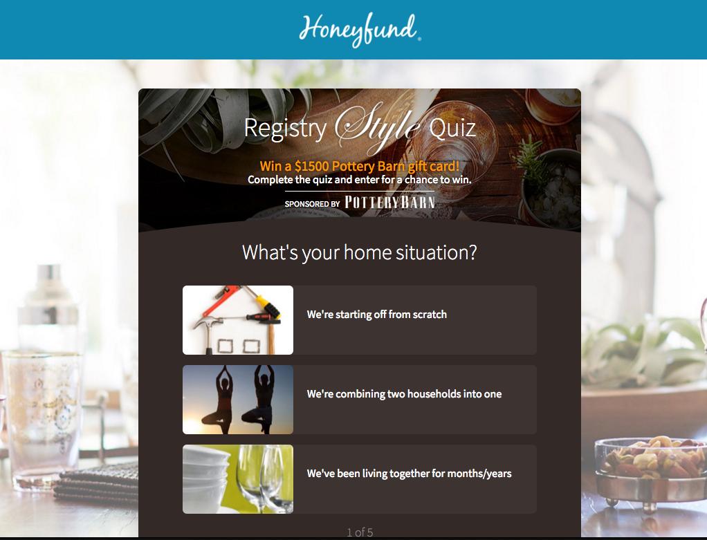 Honeyfund Registry Style Quiz