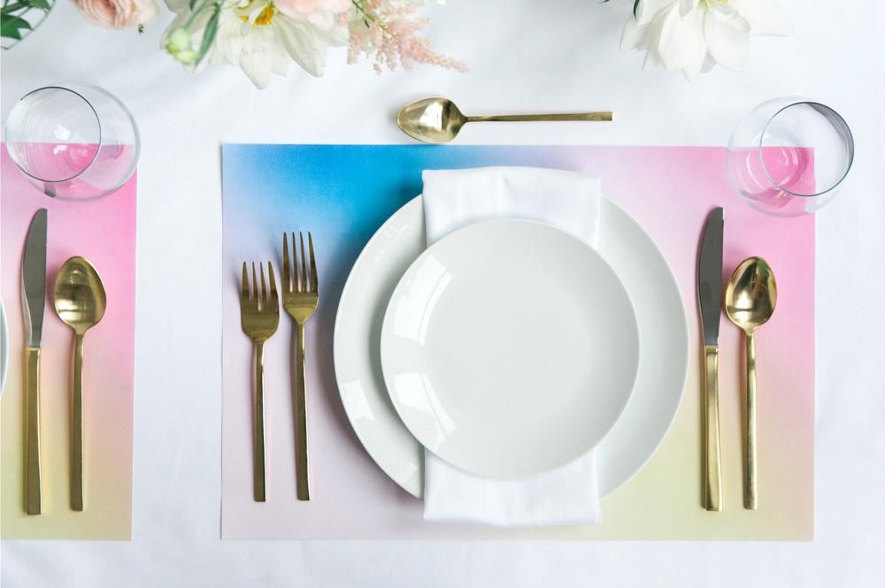 Ombre placemats