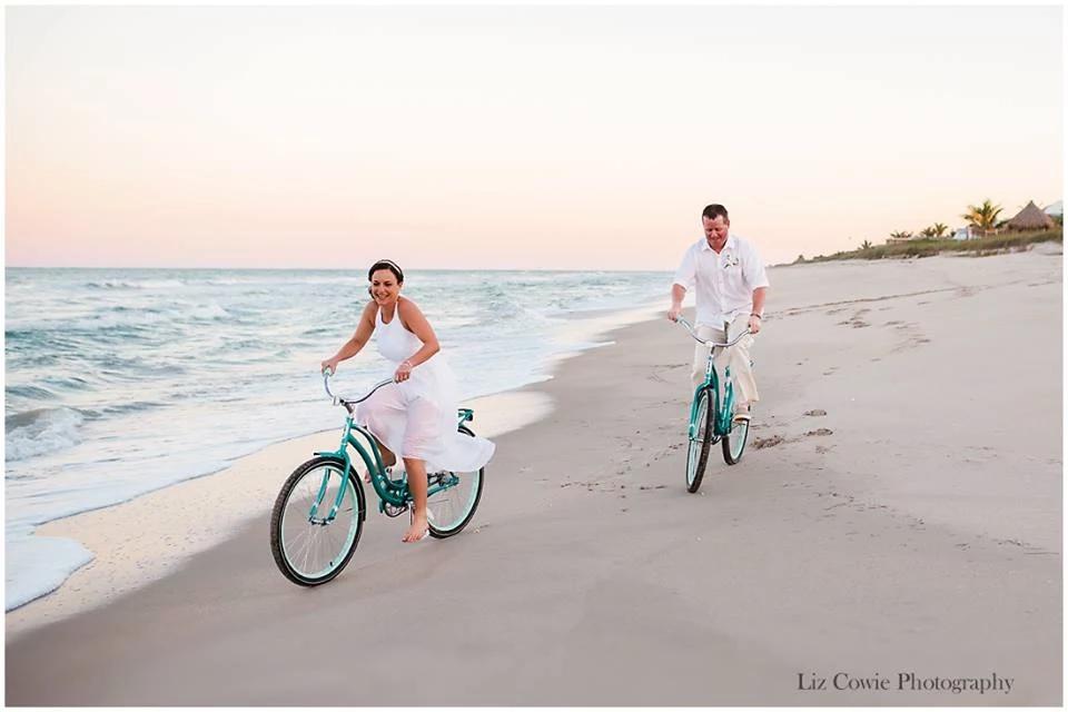 Cycles on beach