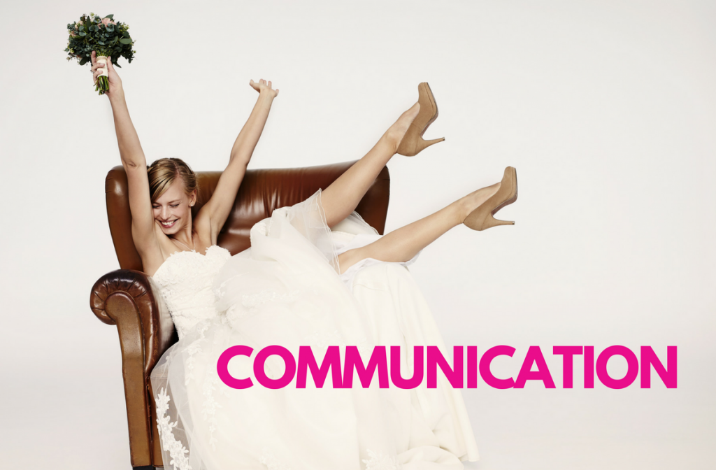 Communication is key in wedding planning