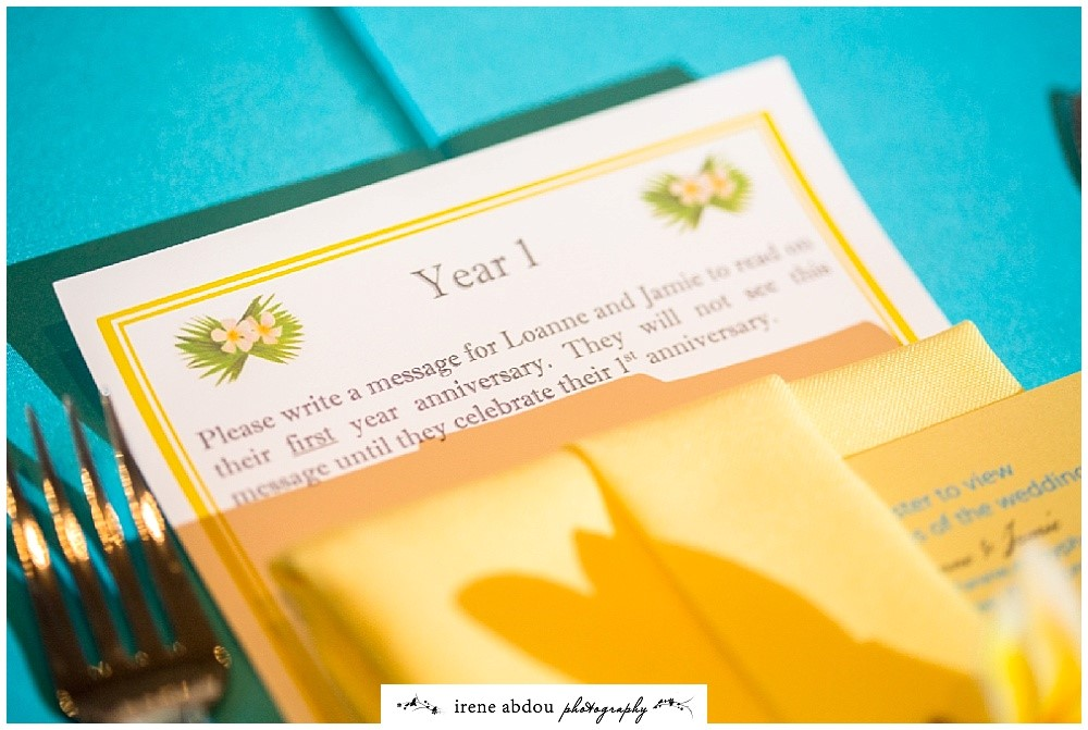 Ask guests to write notes to you