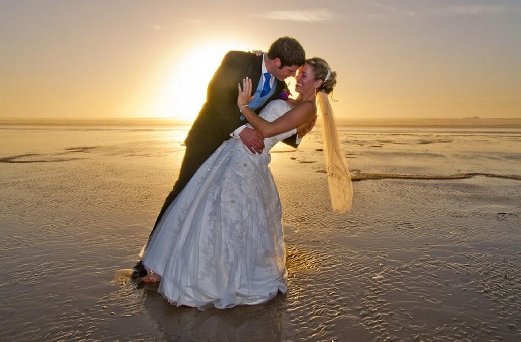 Romance of a beach wedding