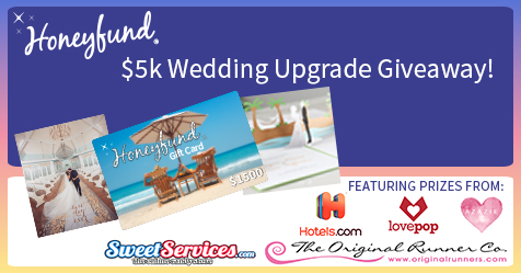 5k wedding upgrade giveaway from honeyfund honeyfund blog by the free. Black Bedroom Furniture Sets. Home Design Ideas