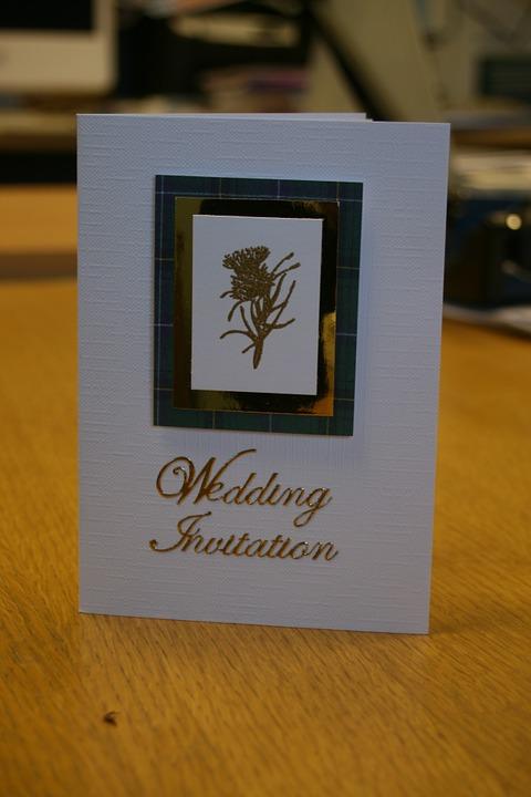 Wedding invitation on short notice