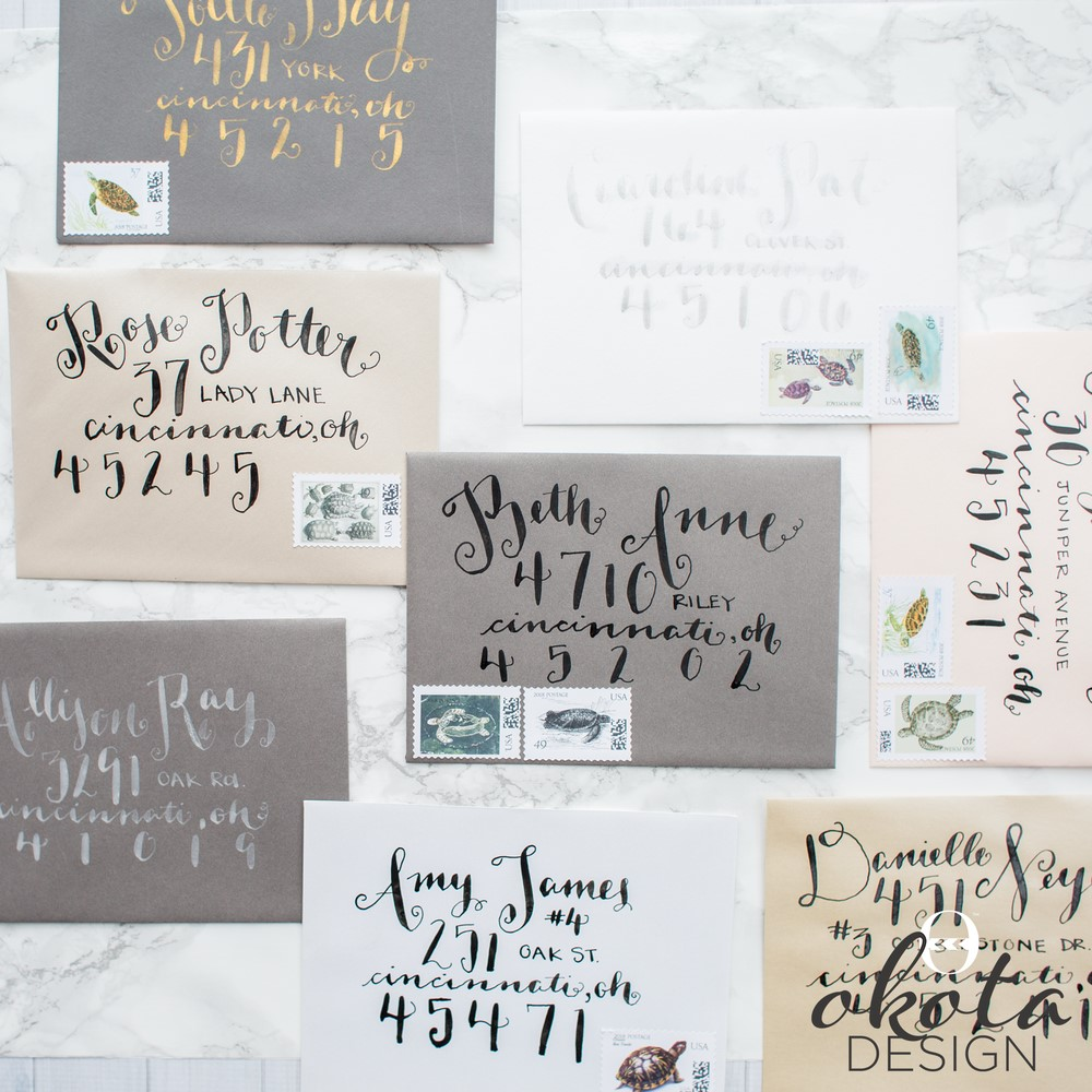 Specialty printing - calligraphy