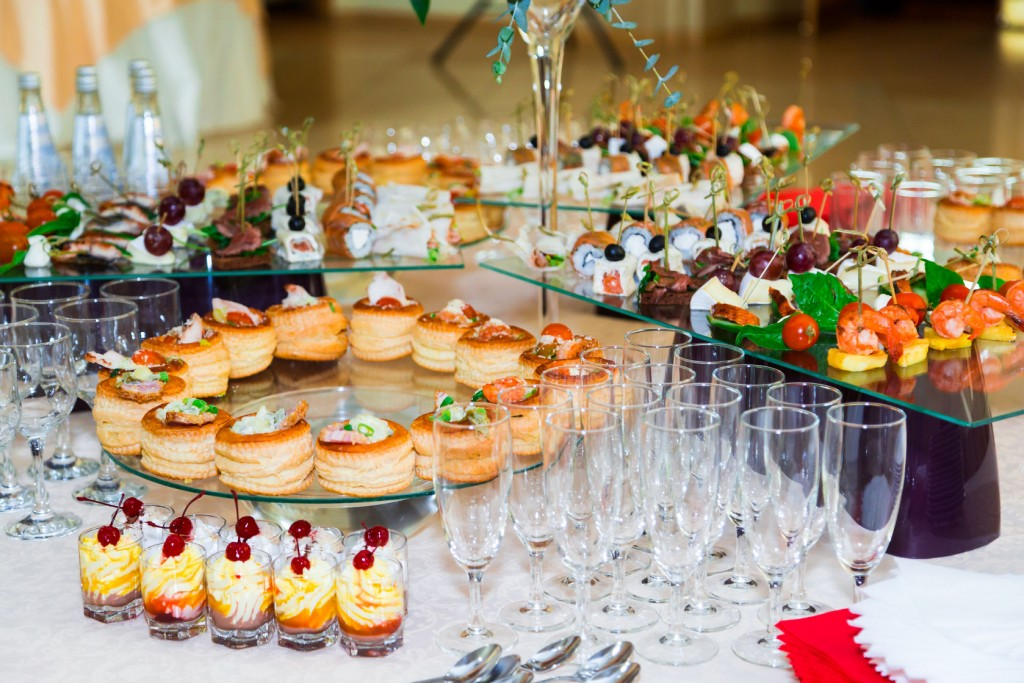 Upscale food for your wedding reception