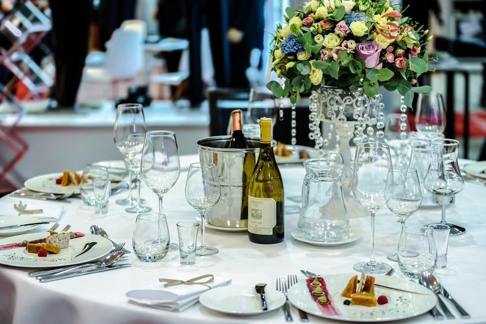 Champagne at wedding