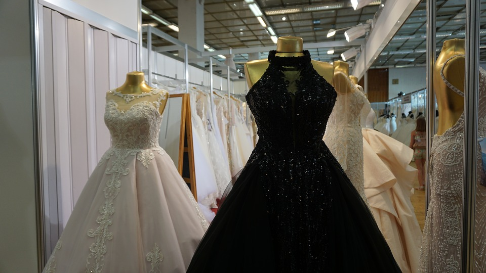 Black is making its way into wedding clothing