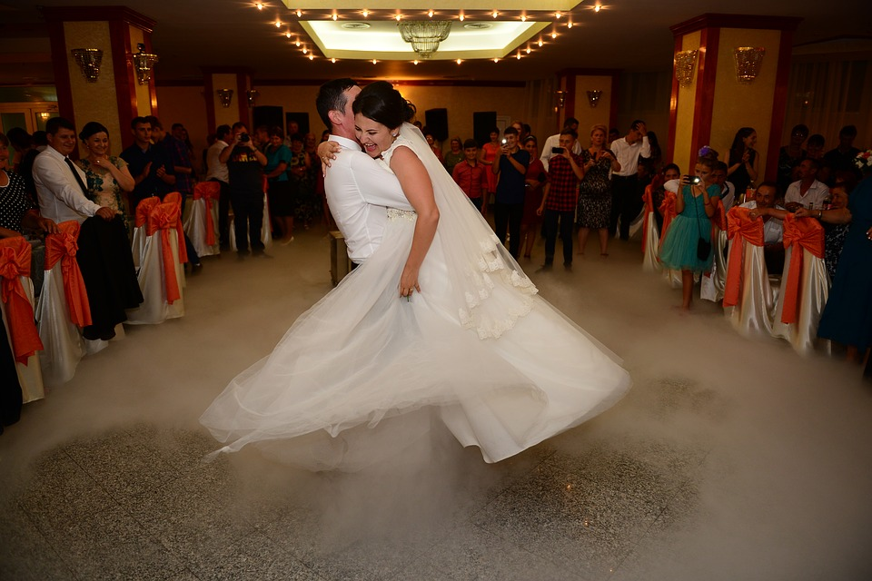 Center stage for the first wedding dance