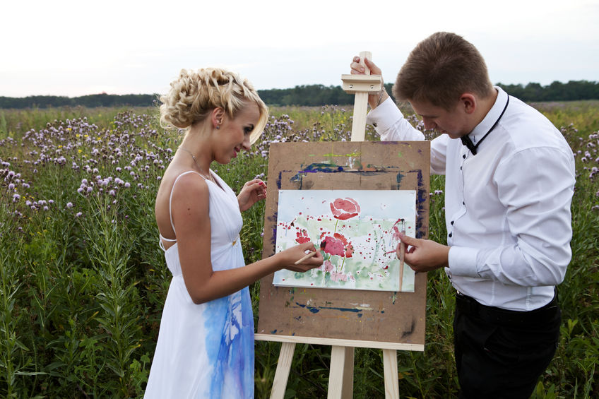 Wedding unity canvas