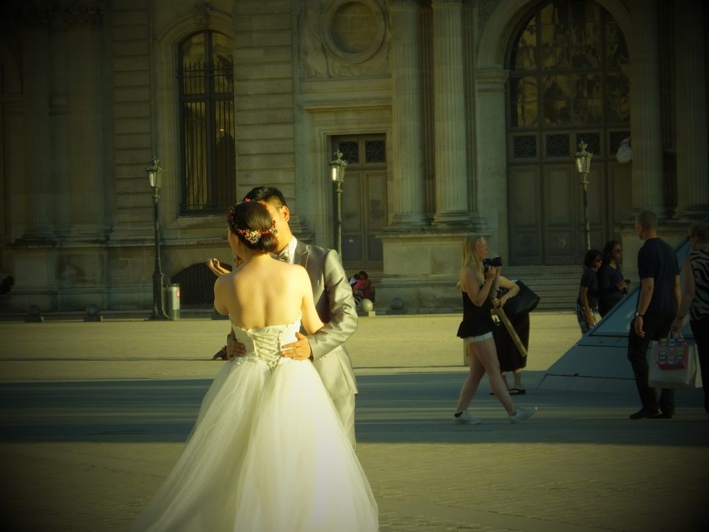 Wedding at the Lourve