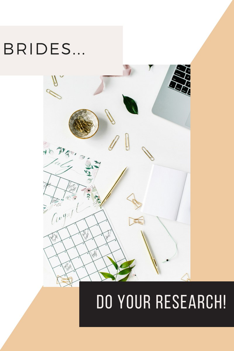 Do Your Own Wedding Planning Research