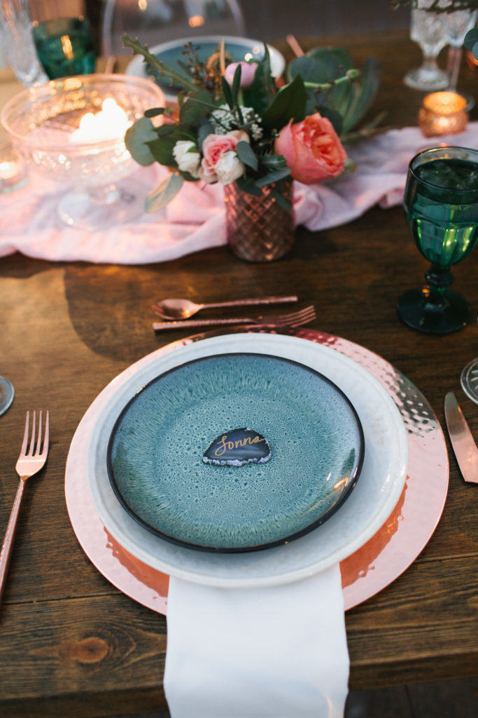 Copper-place-setting
