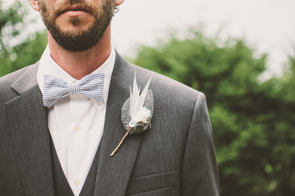 3-piece wedding suit