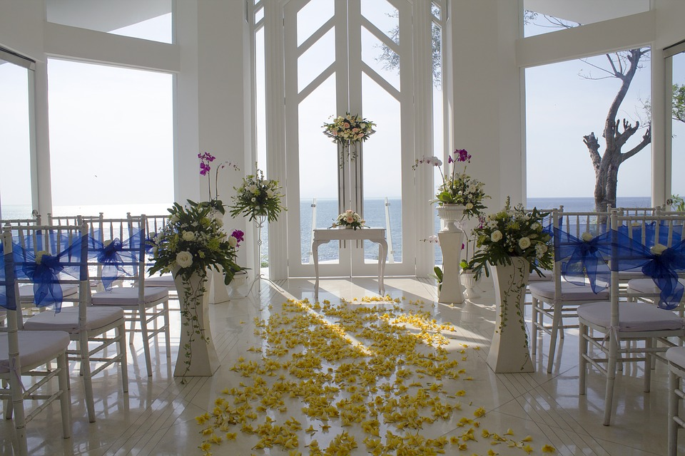 Beautiful decor at a banquet hall