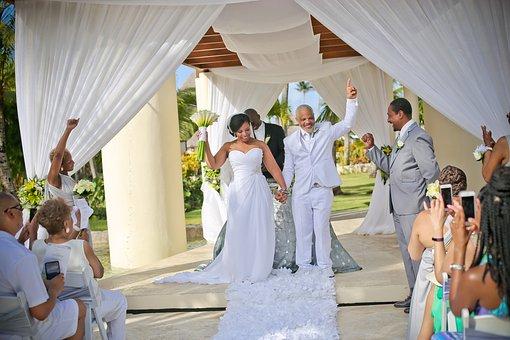 Guests at a destination wedding