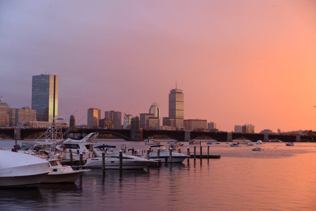 Boston Harbor at dusk