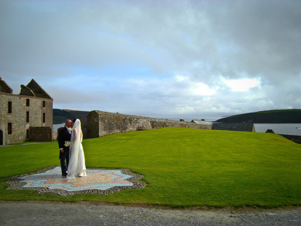 Coupoer kissing at Charles Fort in Ireland