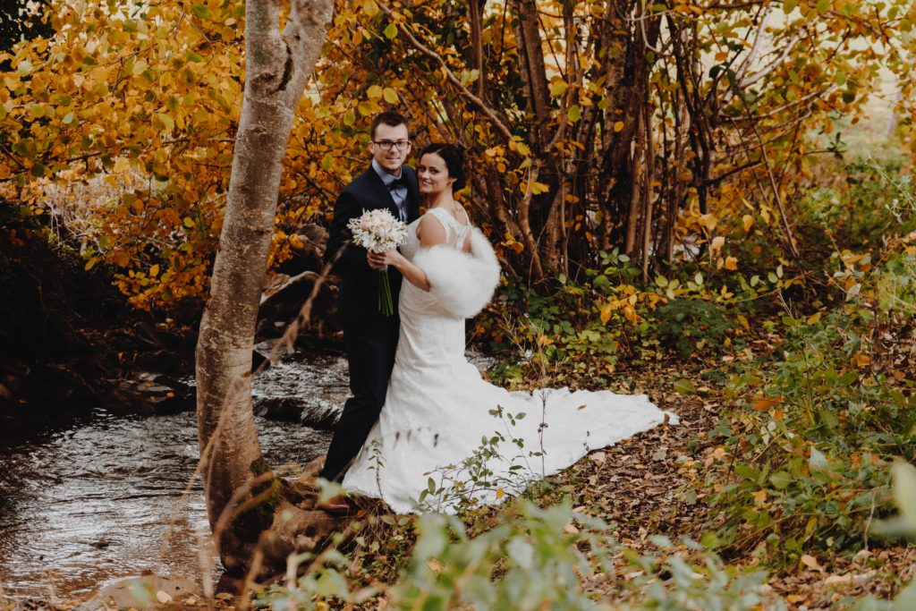 Fall is perfect for a New England wedding
