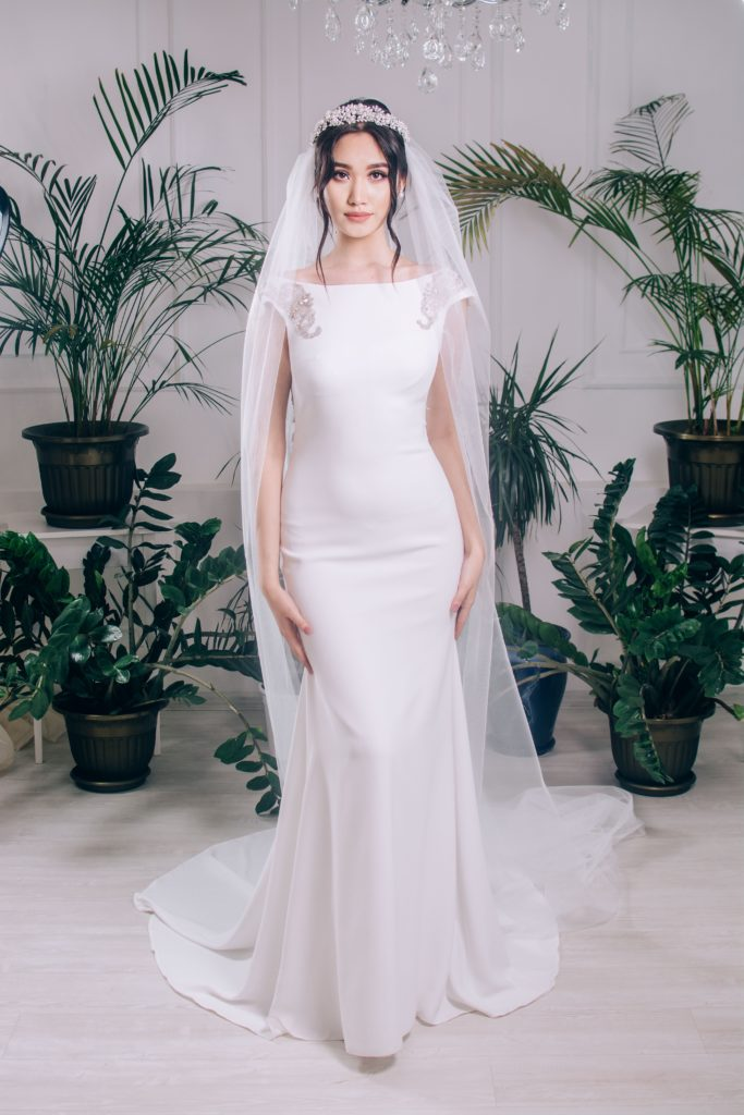 Jersey or knitted wedding dress