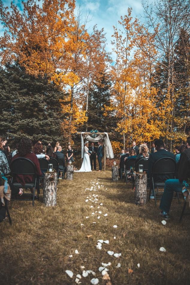 Rustic New England wedding