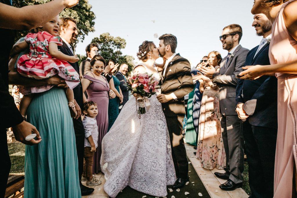 Bridal kiss