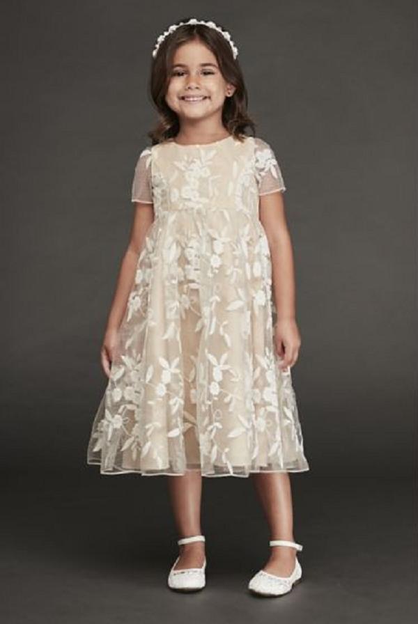 Ivory Tea-Length Dress