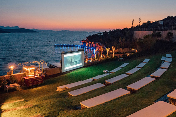 Movie Screenings Over The Water In The Maldives