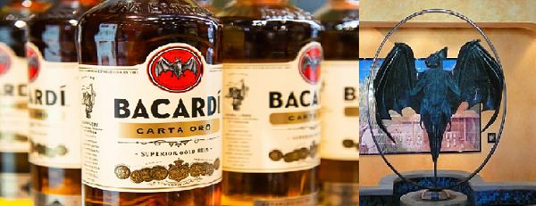Bacardi rum with bat