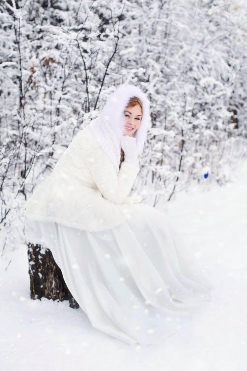 Bride in winter