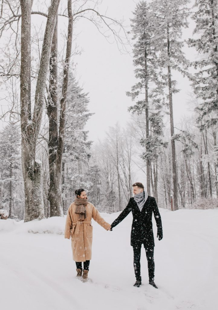 Dress warmly for a winter wedding