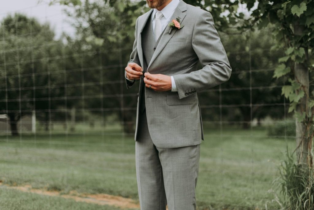 Stylish suit for the groom