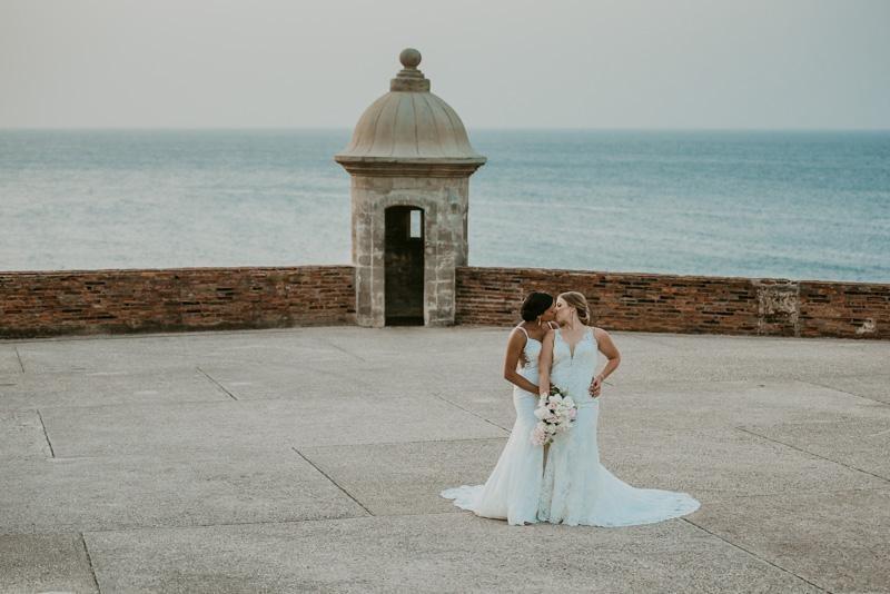 Two brides in Puerto Rico