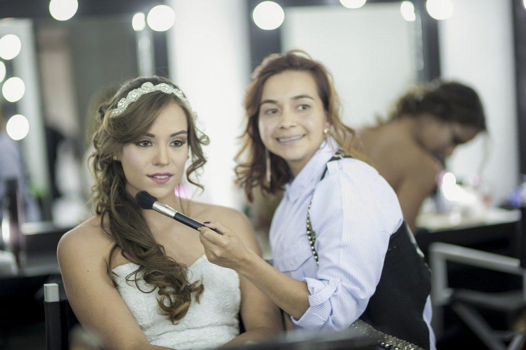 wedding dress hair & makeup