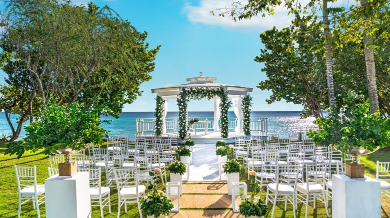 chairs for destination wedding by the ocen