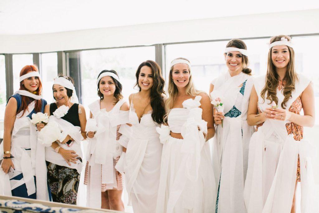 Toilet paper bride game
