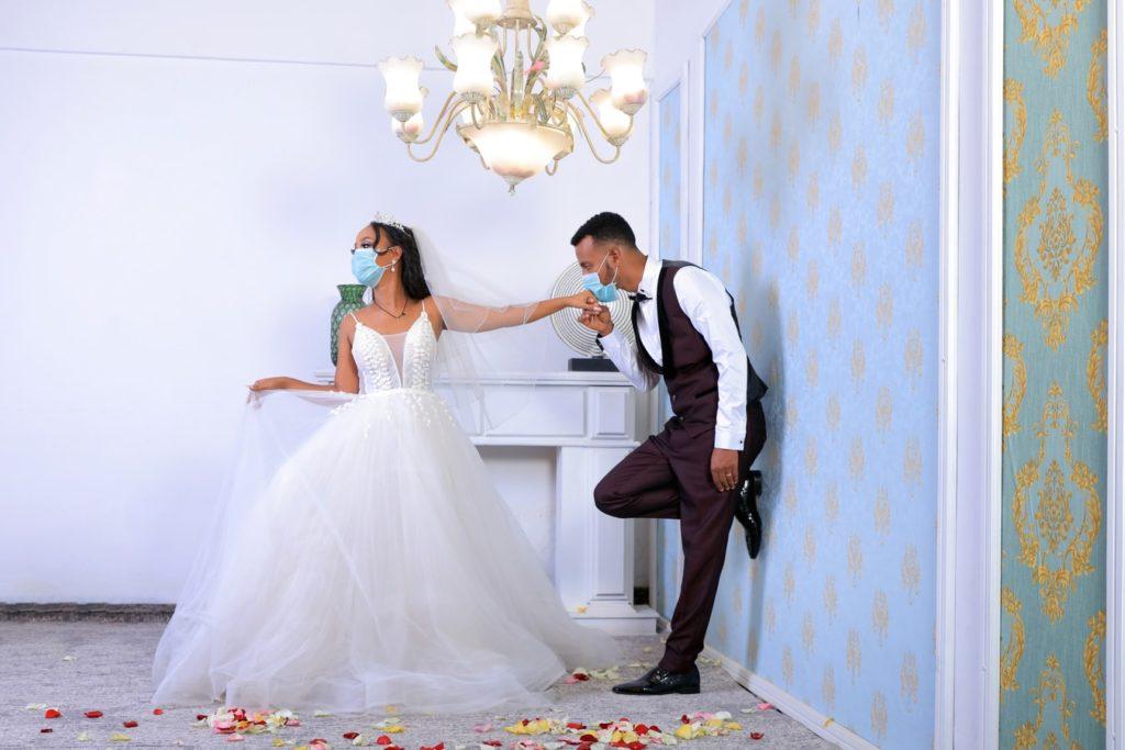 Social distancing at wedding