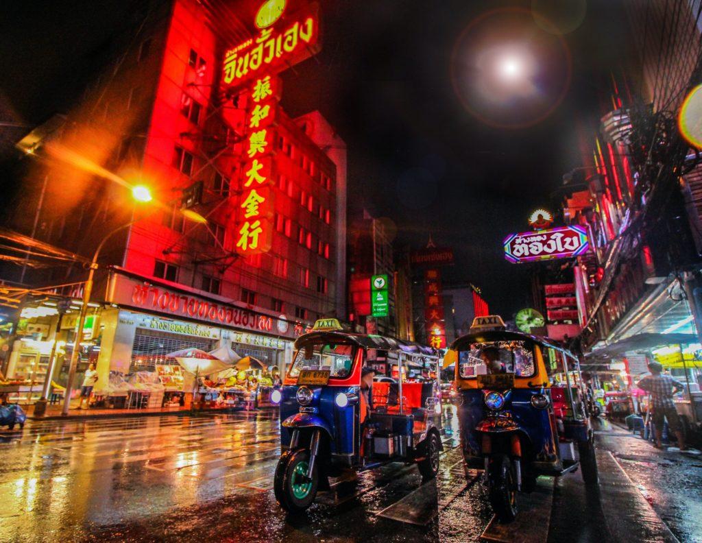 City streets of Bangkok, Thailand