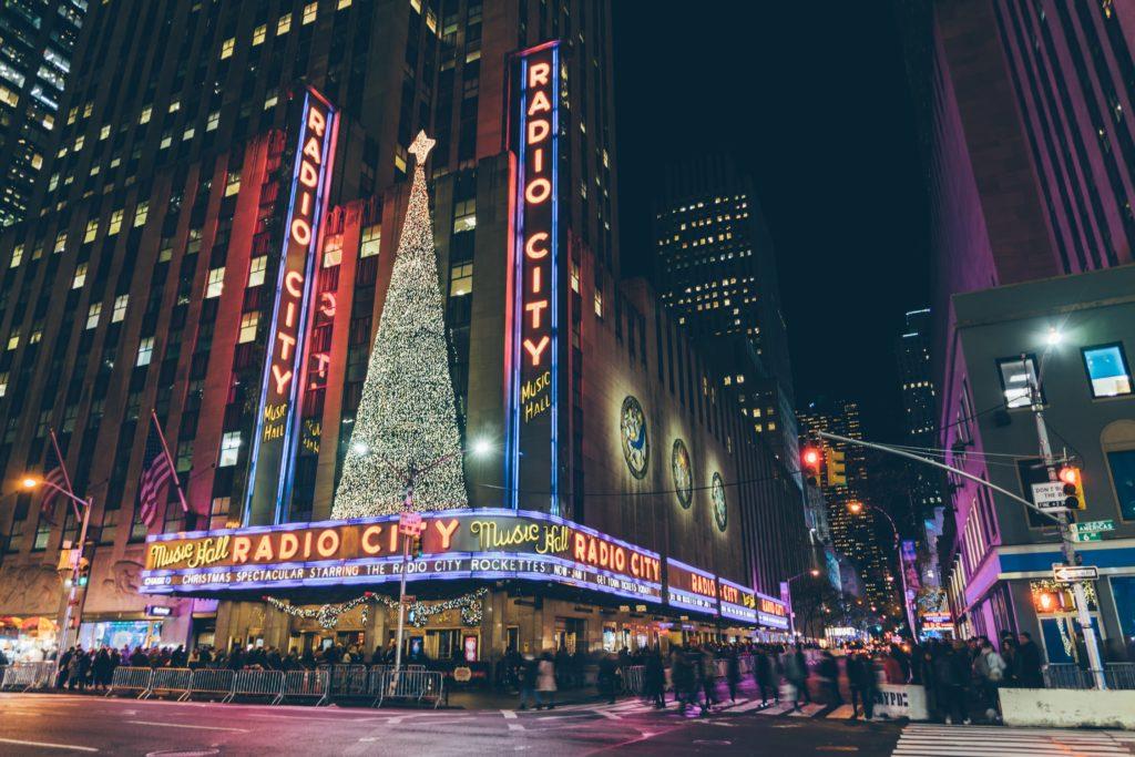Radio City Music Hall in winter, NYC