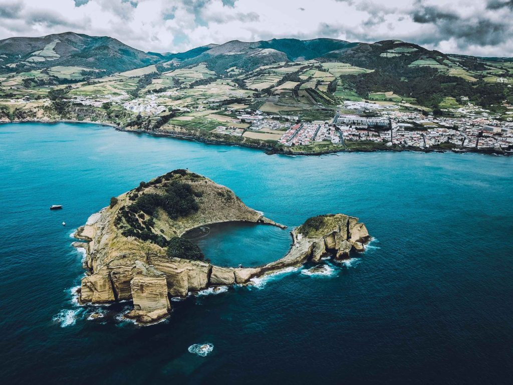 Volcanic Crater, Azores, Portugal