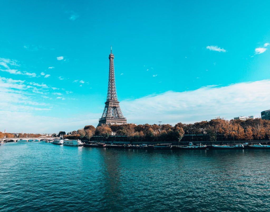 Eiffel Tower and the Seine, Paris, France