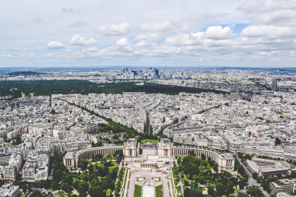 Trocadero from Eiffel Tower, Paris, France