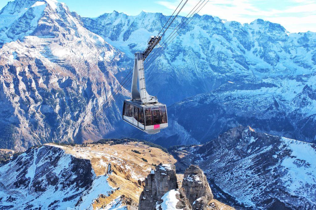Cable car, Alps, Switzerland