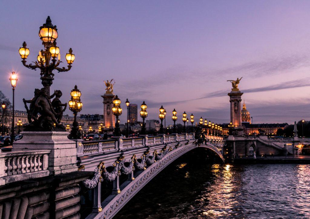 `Bridge over the Seine, Paris, France