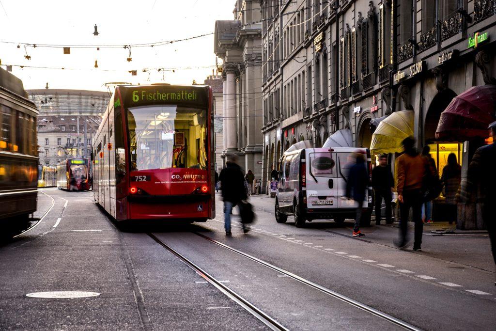 Tram in Bern, Switzerland