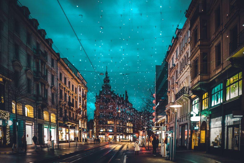 Christmas lights, Zürich, Switzerland