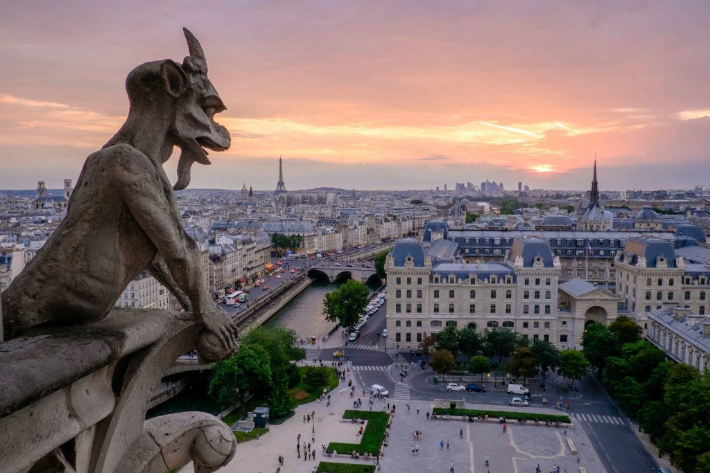 Atop Notre Dame, Paris, France